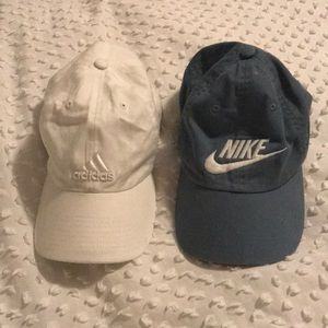 Adidas and Nike women hats